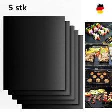 5er Set PREMIUM Dauer BBQ Grillmatte Grillunterlage Teflon Backmatte Bratfolie