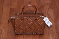 NWT Michael Kors $498 Diamond Grommet Selma Medium Satchel Handbag Purse Luggage