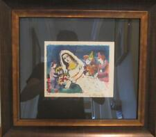 """Zamy Steynovitz """"Wedding at the Circus"""" FRAMED Hand Signed/Numbered Serigraph"""
