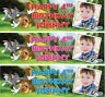 2 x personalised birthday banner photo tom and jerry children kid nursery party