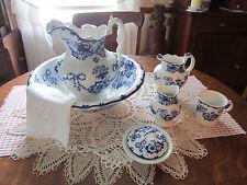 Antique 8 pc. Chamber set - Colonial Pottery - Huron pattern - Stoke England EC