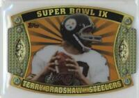 2011 Topps Super Bowl Legends Giveaway Die-Cut Prizes Gold /99 Terry Bradshaw