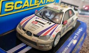 Rare Scalextric weathered Subaru Impreza WRC 50th Anniversary C2789