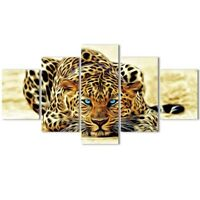 Wall Canvas Art Leopard Print Animal Pictures Living Room Hd Creeping Decoration
