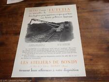 1930.Publicité pelleteuse Lutetia.ateliers de Bondy.