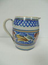 Spainish Faience Tin Glaze Pottery Pitcher Jug Antique