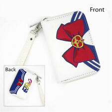 Anime PU Short Wallet Sailor Moon Purse with Zipper Coin Purse Wallet