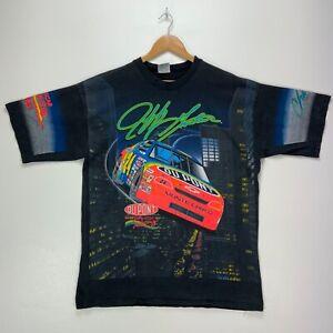 1995 Jeff Gordon #24 Winston Cup Champion Vintage T-shirt XL Black Nascar Aop