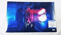 "MILLIE BOBBY BROWN ""11"" SIGNED 11X17 METALLIC PHOTO STRANGER THINGS BAS COA 696"