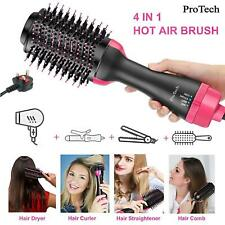 New 4 in 1 Hair Dryer Curling Roller Iron Ion Hair Dryer Electric Blow Dry Brush