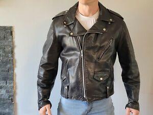 Vintage Schott Perfecto Black Leather Jacket Size 42
