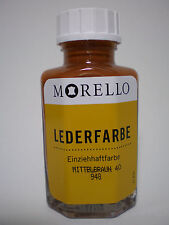 (17,45€/100ml) Lederfarbe Morello Einziehhaftfarbe zum färben MITTELBRAUN 40 ml