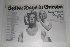 Original: SKIDS: DAYS IN EUROPA + Tour Dates-Music Press ADVERT 1979!