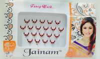 Bollywood Designer Bindis Premium Crystal Jewels Mettallic Bindi Stickers Tattoo