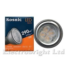10x Kosnic 6w Vatios Led Gu10 de alimentación blanco cálido 3000K Ultrabrillante Spot Lámpara 370lm
