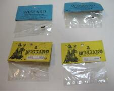Mixed Lot of 4 Wizzard Slot Car Pinion Gears & Shoe Springs NOS