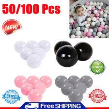 100pcs/Set Colorful Plastic Ball Pit Balls Crush Proof Ocean Ball Kids Toy Games