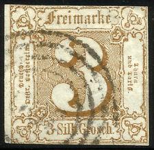 THURN UND TAXIS, 3 SILBERGROSCHEN, 1863, MICHEL # 31, RING CANCELLATION