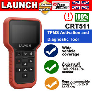 LAUNCH TPMS Relearn Tool Auto Tire Tyre Pressure Sensor Activation OBD2 CRT5011X
