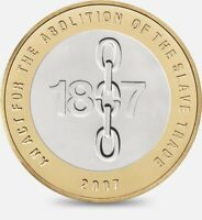 2007 £2 ACT ABOLITION OF THE SLAVE TRADE TWO POUND COIN HUNT 15/32 RARE 2 xx