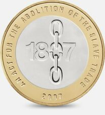 2007 £2 ACT ABOLITION OF THE SLAVE TRADE TWO POUND COIN HUNT 15/32 RARE 2 zz