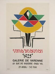 Affiche sonia delaunay 1975