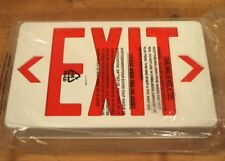 Thomas & Betts EX-800X LED Exit Sign, Red/White, AC/DC Battery Backup - NEW