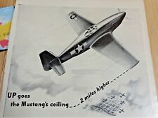 """Packard Magazine Ad Print 1943 14"""" x 10.5"""" Precision Built Power Mustang Ceiling"""