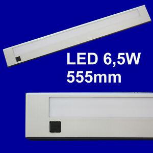 LED Unterbauleuchte Küchenleuchte Lichtleiste Anbauleuchte ca. 55cm 6,5W silber