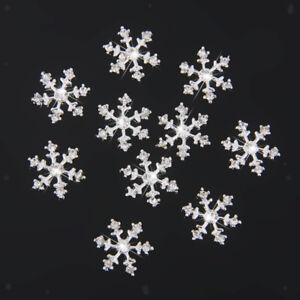 10pc Snowflake Rhinestone Wedding Christmas Invitation Embellishment Buttons