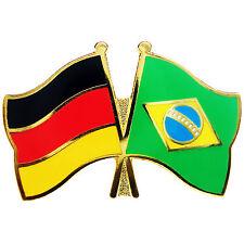 Freundschaftspin Deutschland - Brasilien Anstecker Anstecknadel Fahne Doppelpin