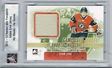 2012-13 ITG HEROES AND PROSTPECTS HE SHOOTS HE SCORES JERSEY ADAM ERNE 1/20 !!