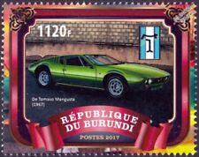 1967 DE TOMASO MANGUSTA Classic Sports Car Stamp (2017 Burundi)