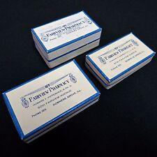 Lot of 3 Prescription Rx Boxes Vintage 1950s Fairview Pharmacy Downers Grove IL