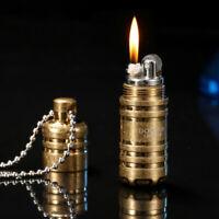 Mini Lighter Compact Capsule  Kerosene Lighter Gasoline Inflated Petrol Outdoor