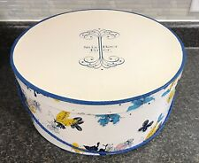 "Vintage Large 18"" Stix Baer & Fuller of St Louis Hat Box w/ Soft Cord Handle"