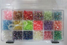 Childrens Beading Jewellery Making Kit 1500 Beads, Stretch Cord & Bead Container