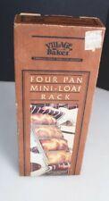 Village Baker Four Pan Mini-Loaf Rack Set of 4 in a RACK Pan