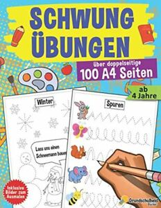 Schwungübungen ab 4 Jahren: Der große Kindergartenblock - Vorschulheft und Vor