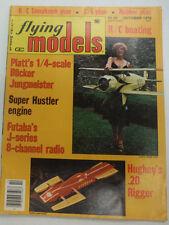 Flying Models Magazine Platt's 1/4 Scale Bucker October 1979 FAL 060315R