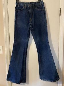 Vintage Levi's 684 Bell Bottom Denim Jeans Size W32 X L36