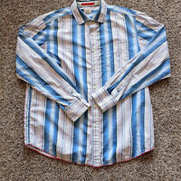 Tommy Bahama Jeans Men's Colorful Striped Shirt Long Sleeve Button Up Size Large