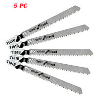 "Jig Saw Blades T-Shank 4"" 5 pcs 10 TPI for DeWalt, SKIL & Makita wood custom"