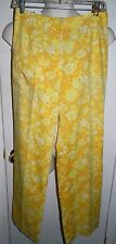 Vintage 1970s LILLY PULITZER The Lilly Yellow Floral Cotton Blend Pants Size 10