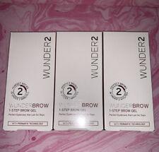 3 WUNDER2  Wunderbrow 1-Step Brow Gel, New, - Black/Brown 3g / 0.105 oz SEALED