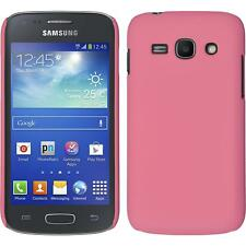 Hardcase for Samsung Galaxy Ace 3 rubberized pink Cover + protective foils