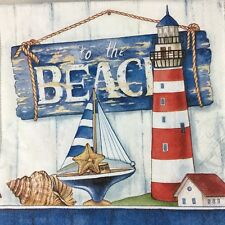 4x Paper Party Napkins for Decoupage to The Beach Napkin Art