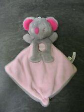 doudou souris grise rose sucre d'orge état neuf
