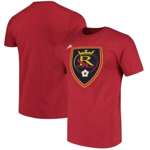 """Real Salt Lake MLS Adidas Red """"The Go-To"""" 100% Cotton Short Sleeve T-Shirt"""