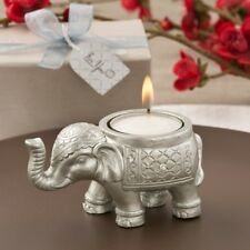 25 Good Luck Silver Indian Elephant Candle Wedding Shower Party Gift Favors